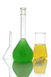 Chemical retorts Royalty Free Stock Image