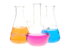 Chemical retorts Royalty Free Stock Photography