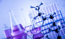 Chemical,science and laboratory glassware background Royalty Free Stock Photography