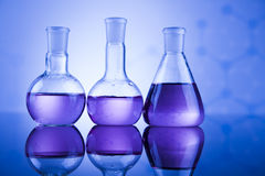 Chemical,science and laboratory glassware background Stock Photography