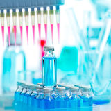 Chemical scientific laboratory multi channel pipette Royalty Free Stock Photo