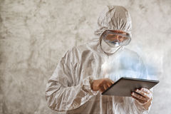 Chemical Scientist Using Digital Tablet Computer Stock Photography