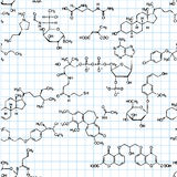 Chemical seamless pattern Stock Photography