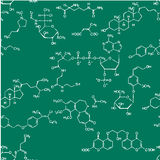Chemical seamless pattern Royalty Free Stock Photo