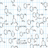 Chemical seamless pattern Royalty Free Stock Image