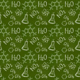 Chemical seamless pattern. Vector background. Royalty Free Stock Photo