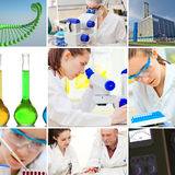 Chemical set. Chemical microbiology worker industrial set stock photos