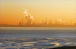 chemical solnedgång Royaltyfri Bild