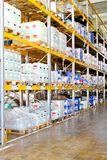 Chemical storage rack Royalty Free Stock Images