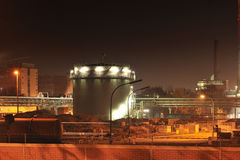 Chemical and pharmaceutical plant by night royalty free stock photography