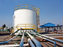 Chemical storage tank and pipe line 1 Stock Photography
