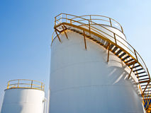 Chemical storage tanks Stock Photo