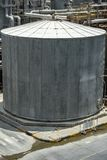 Chemical storage tanks that are hot in the factory royalty free stock photography