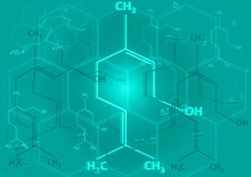 The chemical structural formula of spirit Stock Photography