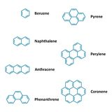 Chemical structural formulas Stock Photos