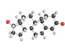 Chemical structure of testosterone. Male sex hormone. Realistic style version of the render Stock Photography