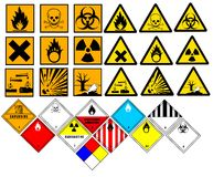 Chemical symbols Royalty Free Stock Image