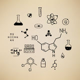Chemical symbols. This is an illustration with chemical symbols Royalty Free Stock Images