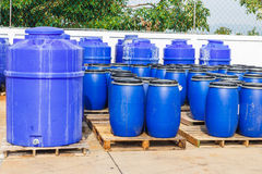 Chemical tank in factory Royalty Free Stock Photos