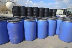 Chemical tank storage Stock Photo