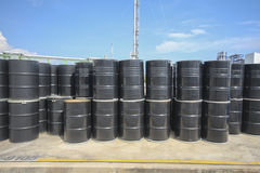 Chemical tank in storage yard Royalty Free Stock Images