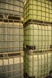 Chemical tank. Toxic storange plastic royalty free stock photo