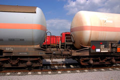 Chemical tank wagon royalty free stock photos
