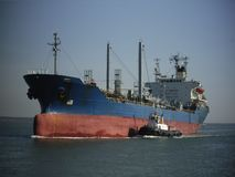Chemical Tanker. Approaching a port Royalty Free Stock Photos