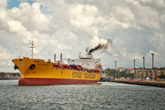 Chemical Tanker departs White Bay in Sydney Stock Photography