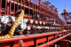 Chemical tanker manifold Stock Image