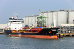 Chemical tanker port Royalty Free Stock Photo