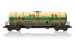 Chemical tanker railroad car Stock Photos