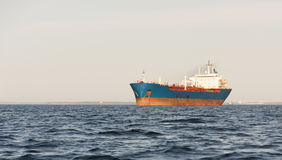 Chemical tanker on sea Royalty Free Stock Photo