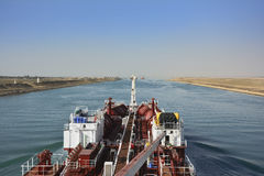 Chemical tanker.suez canal Stock Image