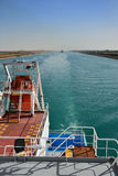 Chemical tanker.suez canal Stock Photography