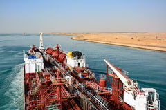 Chemical tanker.suez canal Stock Images