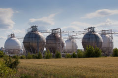 Chemical tanks Stock Image