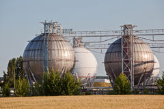 Chemical tanks Stock Photo