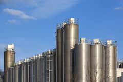 Chemical tanks Royalty Free Stock Image