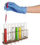 Chemical test Royalty Free Stock Image