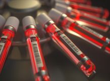 Chemical Test Bright Red Blood Stock Photography