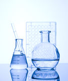 Chemical Test Tube. Chemical experiment with Laboratory glass Stock Images