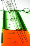 Chemical Test Tube. Chemical experiment with Laboratory glass Stock Photo