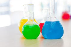 Chemical test tube Royalty Free Stock Images
