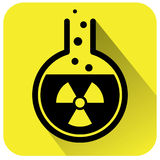 Chemical test tube icon Stock Photography