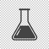Chemical test tube pictogram icon. Chemical lab equipment isolated on isolated background. Experiment flasks for science. Experiment. Trendy modern vector stock illustration