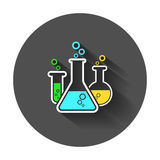 Chemical test tube pictogram icon. royalty free illustration