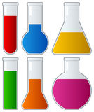 Chemical Test Tubes with Colorful Liquid Royalty Free Stock Image