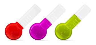Chemical test tubes icons Stock Image