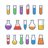 Chemical test tubes icons Royalty Free Stock Images